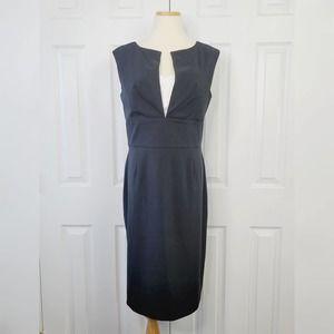 WHBM Sleeveless Midi Sheath Dress